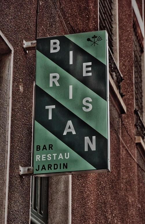 Le Bieristan - enseigne