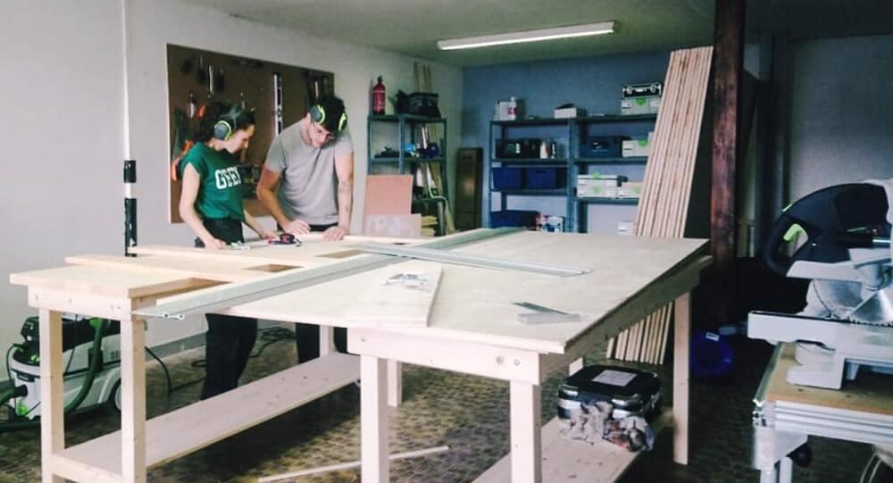 Menuiserie La Goupille (Romans-sur-Isère) - travail dans l'ancien atelier