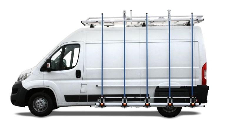 porte-charge latéral pour camion de menuiserie