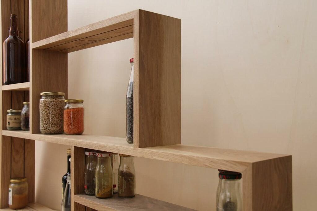 meuble en bois de récupération - parquet chêne